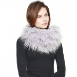 CS8435 Shaggy Faux Fur Oversized Neck Warmer, Light Purple