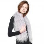 CS8436 Shaggy Faux Fur Oversized Shawl Scarf, Light Purple