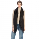 CS8440 Cashmere Feel Solid Scarf, Black