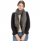 CS8440 Cashmere Feel Solid Scarf, Charcoal