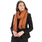 CS8440 Cashmere Feel Solid Scarf, Pumpkin(MUS)