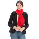 CS8440 Cashmere Feel Solid Scarf, Red