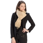 CS8440 Cashmere Feel Solid Scarf, Taupe
