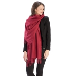 CS8440 Cashmere Feel Solid Scarf, Wine