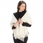 CS8440 Cashmere Feel Solid Scarf, Ivory
