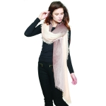 CS8441 Two Tone Tie Dye Scarf, Brown