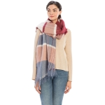 CS8443 Color Block Soft Scarf, Grey