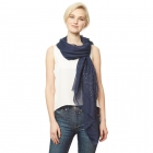 CS9111 Solid Scarf w/Sequin Accents, Navy