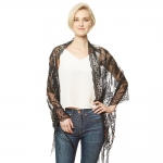 CS9112 Sequin Party Shawl Scarf, Black
