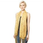 CS9113 Edge Flower Sequin Party Shawl Scarf, Gold