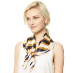 CS9116 Stripe Square Scarf, Yellow