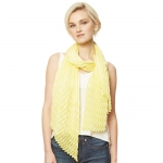 CS9118 Solid Pleated Scarf, Yellow