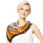 CS9132 Mixed Floral Print Square Scarf