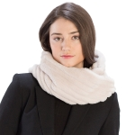 CS9202 Striped Quilting Infinity Scarf, Beige