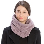 CS9202 Striped Quilting Infinity Scarf, Purple