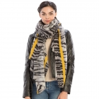 CS9209 Color Line with Animal Pattern Scarf