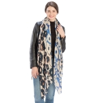 CS9211 Abstract Leopard & Floral Pattern Scarf
