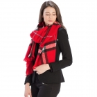 CS9215 Checker Plaid Pattern Scarf, Red