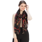 CS9216 Chain Design Scarf, Black