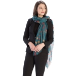 CS9216 Chain Design Scarf, Teal