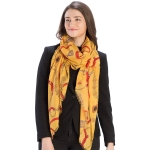 CS9216 Chain Design Scarf, Yellow