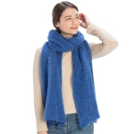 CS9219 Solid Color Textured Scarf, Blue