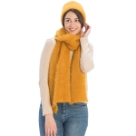 CS9219 Solid Color Textured Scarf, Mustard