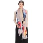 CS9220 Bold Floral Print Scarf,Grey