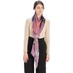 CS9220 Bold Floral Print Scarf, Purple