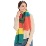 CS9223 Multi Color Block Textured Scarf