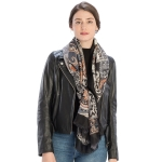 CS9228 Multi Paisley Print Scarf, Black