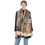 CS9228 Multi Paisley Print Scarf, Yellow