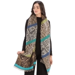CS9235 Multi Animal Prints & Solid Colors Scarf, Blue