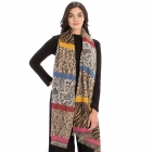 CS9235 Multi Animal Prints & Solid Colors Scarf, Purple