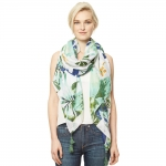 CS9305 Green Flower Sarong Scarf