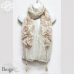CSH1101 Two Tone Flower Scarf with Tassel