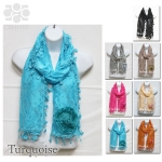 CSH1107 Lace Scarf with Corsage