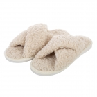 CSL006 Teddy Bear Feel Indoor Slipper, Beige