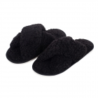 CSL006 Teddy Bear Feel Indoor Slipper, Black