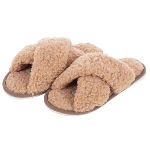 CSL006 Teddy Bear Feel Indoor Slipper, Taupe