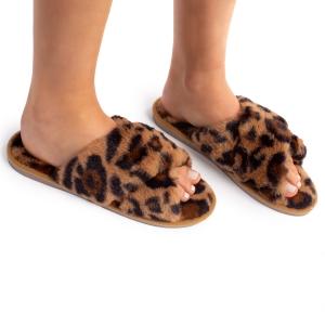 CSL1503 Leopard Pattern Cross Slippers