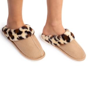 CSL1504 Sheepskin Slippers with Multi Pattern Trim