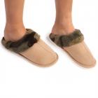 CSL1504 Sheepskin Slippers with Multi Pattern Trim, Camo  (3 Pcs Set)