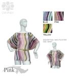 CWPN01 Stripe Print Poncho