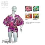 CWRU09 Floral Print Ruana