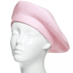 CH8202 Stretchy Knitted Beret, Pink