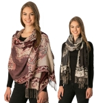 CS7234 Abstract Pattern Color Black Scarf