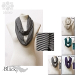 DSS002 Stripe Infinity Scarf