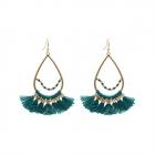 EA007 Beads & Tassels Round Earring
