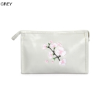 ECB1388C Cherry Blossom Embroidery Cosmetic bag, Grey